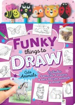 Funky Things to Draw 5 Pencil and Eraser Set and Activity Book