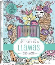 Kaleidoscope Pastel Colouring Kit: Llamas and More