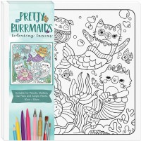 Children's Colouring Canvas: Pretty Purrmaids