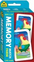 School Zone Memory Match Farm Flash Card Game