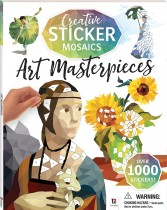 Creative Sticker Mosaics: Art Masterpieces