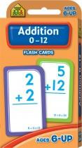 School Zone Addition 0-12 Flash Cards