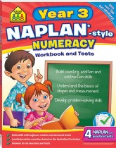 School Zone Year 3 Numeracy NAPLAN*-style Workbook and Tests