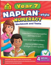 School Zone Year 7 Numeracy NAPLAN*-style Workbook and Tests