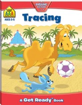 School Zone Get Ready Workbook: Tracing Trails
