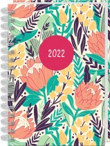 2022 A5 Wiro Diary: Modern Floral