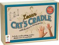 Retro Wooden Box:Cat's Cradle, Elastics & Other String Games