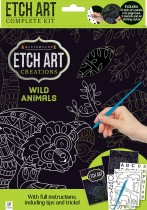 Etch Art Mini Kit: Wild Animals