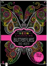 Neon Colouring: Butterflies and More
