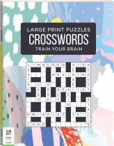 Large Print Puzzle Books: Crosswords