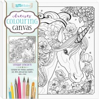 artists colouring canvas unique unicorn - Colouring In Picture