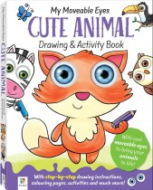 My Moveable Eyes Cute Animal Drawing and Activity Book