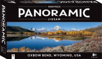 1000 Piece Panoramic Jigsaw Puzzle Oxbow Bend, Wyoming, USA