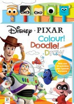 Disney Pixar 5-Pencil and Eraser Set