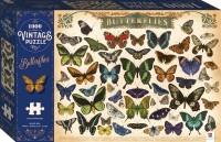1000-piece Vintage Puzzle: Butterflies