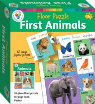 Building Blocks Floor Puzzle: My First Animals (2020 Ed)