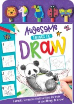 Awesome Things to Draw 5-Pencil Set