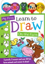 My First Learn to Draw: On the Farm 5-Pencil Set