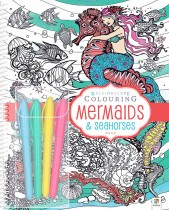 Kaleidoscope Colouring: Mermaids and Seahorses (spiral bound)