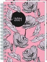 2021 A5 Wiro Diary: Blush Floral