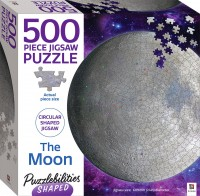 Puzzlebilities Shaped 500pc Jigsaw: The Moon