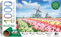 Jigsaw Roll with 1000-Piece Puzzle: Dutch Windmills