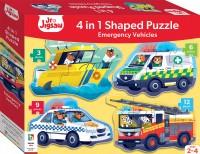 Junior Jigsaw Shaped 4-in-1: Emergency Vehicles