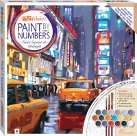 Paint by Numbers Canvas: Times Square at Midnight