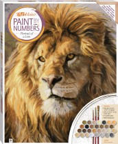 Paint by Numbers Canvas: Portrait of a Lion