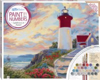 Paint by Numbers Canvas: Lighthouse at Sunset