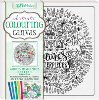 Colouring Canvas: Nature's Masterpieces Book & 5 Markers