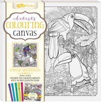 Colouring Canvas: Tropical Masterpieces Book & 5 Markers