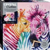 Crystal Creations Canvas: Rainbow Zebras