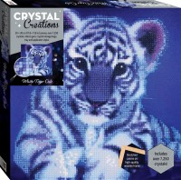 Crystal Creations Canvas: White Tiger Cub