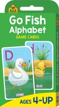 School Zone Go Fish Alphabet Game Cards