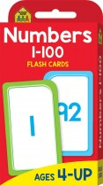 School Zone Numbers 1-100 Flash Cards