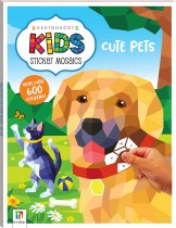 Kaleidoscope Kids Sticker Mosaics: Cute Pets
