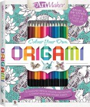 Colour Your Own Origami Kit with 15 Pencils