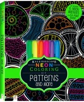 Neon Colouring Kit with 6 highlighters: Patterns