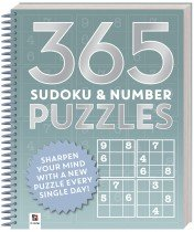 365 Puzzles: Sudoku and Number Puzzles (2019 Ed)