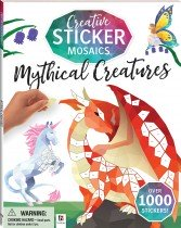 Creative Sticker Mosaics: Mythical Creatures