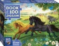 Book with 100-piece jigsaw: Black Beauty