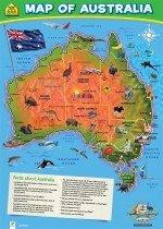 School Zone Wall Chart: Map of Australia