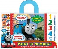 Thomas Paint by Numbers with Carry Handle: Colourful Engines