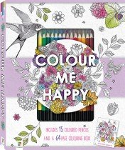 Colour Me Happy Colouring Kit with 15 Pencils