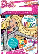 Inkredibles Barbie Carry Along Travel Markers