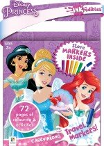 Inkredibles Disney Princess Carry Along Travel Markers
