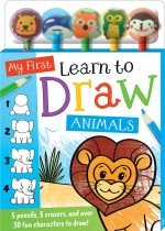 My First Learn to Draw Animals 5-Pencil Set