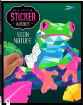 Kaleidoscope Sticker Mosaics: Neon Nature