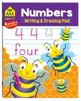 School Zone: Numbers Writing and Drawing Pad